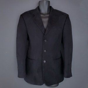 CIGLIANO Faux Suede Suit Jacket Sport Coat Black
